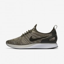 Nike Air Zoom Mariah Flyknit Racer Lifestyle Shoes For Women Cargo Khaki/Summit White/Light Bone 683PVQXG