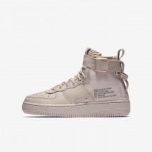 Nike SF Air Force 1 Lifestyle Shoes Boys Siltstone Red/Dust 241IYRBX