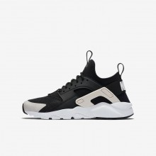 Nike Air Huarache Ultra Lifestyle Shoes For Boys Black/White/Barely Rose 413WZFPK