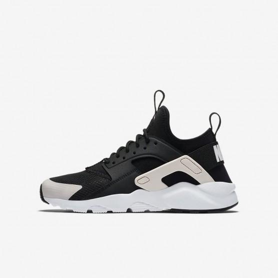 Zapatillas Casual Nike Air Huarache Ultra Niño Negras/Blancas/Rosas 828NMREP