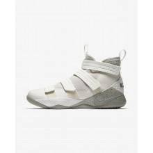 Nike LeBron Soldier XI SFG Basketball Shoes For Women Light Bone/Black/Total Crimson/Dark Stucco 455OIQAK