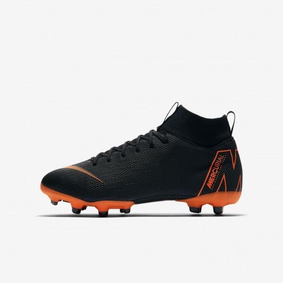 Botas de Futbol Nike Jr. Superfly VI Academy MG Niño Negras/Blancas/Naranjas 122HJKQP