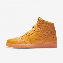 Zapatillas Casual Nike Air Jordan 1 Retro High OG Orange Hombre Naranjas 836HJQTN