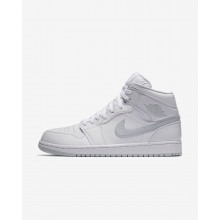 Nike Air Jordan 1 Mid Lifestyle Shoes For Men White/Pure Platinum 765FKMQA
