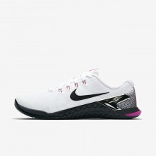 Nike Metcon 4 Training Shoes For Women White/Fuchsia Blast/Laser Orange/Black 892IBQPL