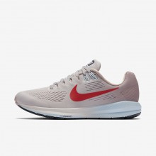 Nike Air Zoom Structure 21 Running Shoes For Women Vast Grey/Elemental Rose/Cobalt Tint/Habanero Red 907NVIKT