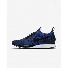 Nike Air Zoom Mariah Flyknit Racer Lifestyle Shoes For Men Black/White/Racer Blue 795WBAYZ