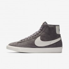 Nike Blazer Mid Vintage Lifestyle Shoes For Women Gunsmoke/Sail/Black 878JRETS