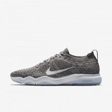 Nike Air Zoom Fearless Flyknit Lux Training Shoes For Women Gunsmoke/Atmosphere Grey/White 653OPMKL