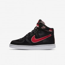 Nike Vandal High Supreme QS Lifestyle Shoes For Girls Black/Bleached Coral/White/Speed Red 990VIJLU