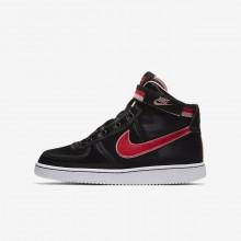 Nike Vandal High Supreme QS Casual Schoenen Meisjes Zwart/Koraal/Wit/Rood 425SXEYZ