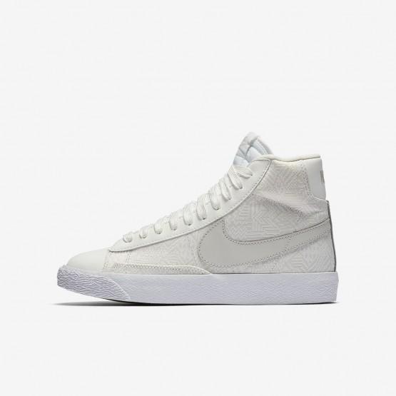 Nike Blazer Mid SE Casual Schoenen Meisjes Wit/Wit/Licht 286DOZVF