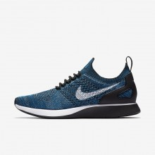 Nike Air Zoom Mariah Flyknit Racer Lifestyle Shoes For Men Green Abyss/Cirrus Blue/White/Black 497HIRGX