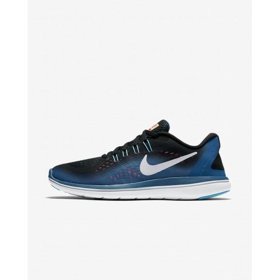 Nike Flex 2017 RN Running Shoes For Women Black/Industrial Blue/Racer Pink/White 450VQAXB