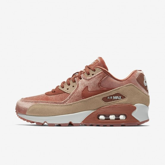 Nike Air Max 90 LX Lifestyle Shoes For Women Dusty Peach/Bio Beige/Summit White 744RLQNE