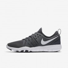 Nike Free TR7 Training Shoes For Women Dark Grey/White 674PFSHV